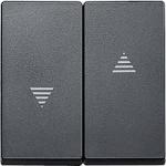 Капак за ключ и бутон за управление на ролетни щори, Антрацит