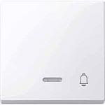 """Капак за механизъм с индикаторна лампа и символ """"Звънец"""", Активно бяло"""