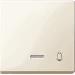 """Капак за механизъм с индикаторна лампа и символ """"Звънец"""", Бяло"""