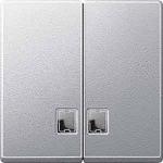 Капак за сериен ключ, с прозрачно правоъгълно индикаторно прозорче, Алуминий