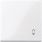 """Капак за механизъм със символ """"Звънец"""", Активно бяло"""