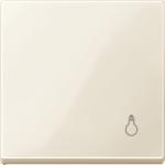 """Капак за механизъм със символ """"Осветление"""", Бяло"""