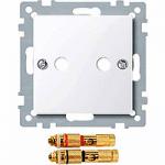 Капак с конектор за висококачествен високоговорител, Активно бяло
