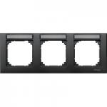 Рамка M-Plan, тримодулна, с възможност за маркировка, хоризонтален монтаж, Антрацит