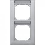 Рамка M-Plan, двумодулна, с възможност за маркировка, за вертикален монтаж, Алуминий