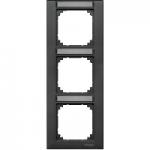 Рамка M-Plan, тримодулна, с възможност за маркировка, за вертикален монтаж, Антрацит
