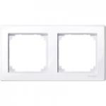 Рамка M-Smart, двумодулна, Активно бяло