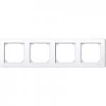 Рамка M-Smart, четиримодулна, Активно бяло