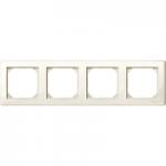 Рамка M-Smart, четиримодулна, Крема