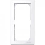 Рамка M-Smart, двумодулна, без разделител на модулите, Активно бяло