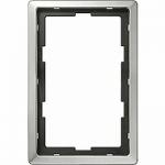 Рамка Artec, едно и половина модулна, Неръждаема стомана