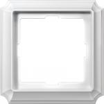 Рамка Antique, едномодулна, Полярно бял