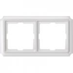 Рамка Antique, двумодулна, Полярно бял