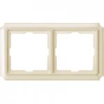 Рамка Antique, двумодулна, Крема