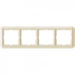 Рамка Antique, четиримодулна, Крема