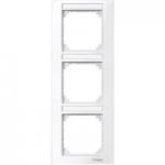 Рамка M-Plan, тримодулна, с възможност за маркировка, за вертикален монтаж, Активно бяло