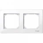 Рамка M-Plan, двумодулна, Активно бяло