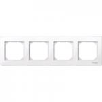 Рамка M-Plan, четиримодулна, Активно бяло
