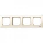 Рамка M-Plan, четиримодулна, Крема