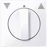 Капак за механизъм на ротативен ключ/бутон за управление на ролетни щори, Активно бяло