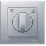 Капак за механизъм на ротативен ключ/бутон за управление на ролетни щори, Алуминий