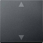 Бутон за управление на щори с функция  памет и сензорна връзка, Антрацит