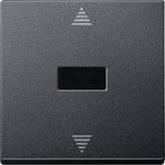 Бутон за за управление на щори с  инфрачервен приемник и сензорна връзка, Антрацит
