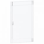 Прозрачна врата с възможност за персонализиране за табла за вграден и открит монтаж 3 x 18, кристал