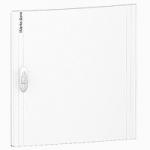 Непрозрачна врата за табла за вграден и открит монтаж, титаниево бяло 2 x 18
