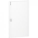 Непрозрачна врата за табла за вграден и открит монтаж, титаниево бяло 3 x 18