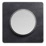 Единична рамка Odace Touch Aluminium, Камък