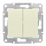 Сериен ключ 10 A – 250 V AC IP 44, Бежов