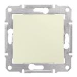 Сериен девиаторен бутон 10 A – 250 V AC, Бежов