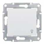 Бутон, със символ осветление IP 44 10 A – 250 V AC, Бял