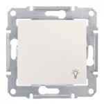 Бутон, със символ осветление IP 44 10 A – 250 V AC, Крема