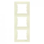Тройна вертикална рамка, Бежов