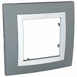 Единична рамка Unica Basic, Техническо сиво/Бял