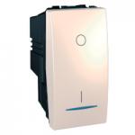 Двуполюсен ключ 16 AX, с LED индикаторна лампа, цвят келибар, едномодулен, Слонова кост