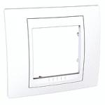 Единична рамка Unica Plus, Бял/Бял