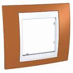 Единична рамка Unica Plus, Оранж/Бял