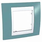 Единична рамка Unica Plus, Светло син/Бял
