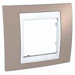 Единична рамка Unica Plus, Млечно кафяв/Бял