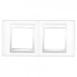 Двойна рамка Unica Plus, Бял/Бял