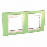 Двойна рамка Unica Plus, Ябълково зелен/Слонова кост