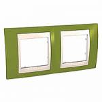 Двойна рамка Unica Plus, Ярко зелен/Слонова кост