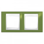 Двойна рамка Unica Plus, Ярко зелен/Бял