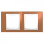 Двойна рамка Unica Plus, Оранж/Бял