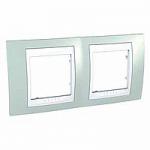 Двойна рамка Unica Plus, Морско зелен/Бял