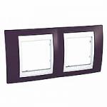 Двойна рамка Unica Plus, Гранит/Бял