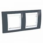 Двойна рамка Unica Plus, Тъмно сив/Бял